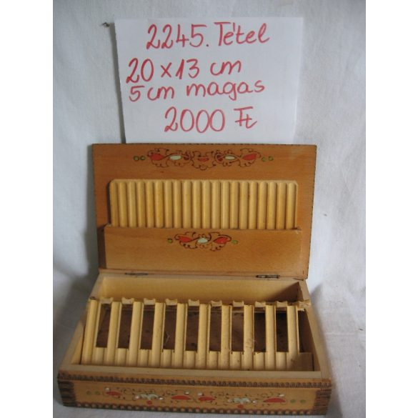 Intarziás, fa, cigaretta tartó doboz