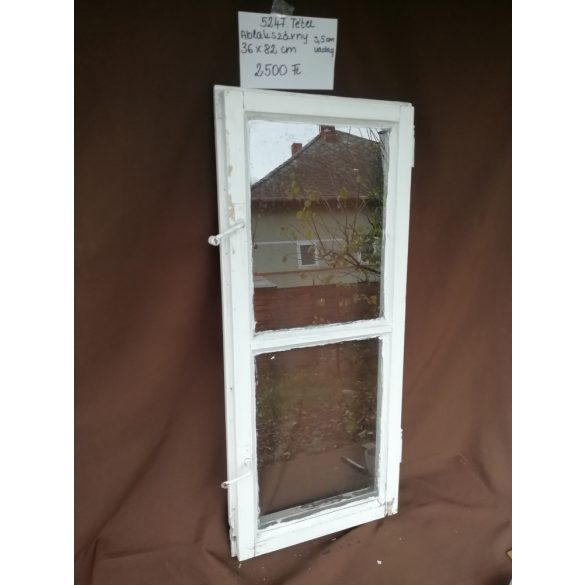 Osztott, 2 szemes, régi, fa ablakszárny, üveggel