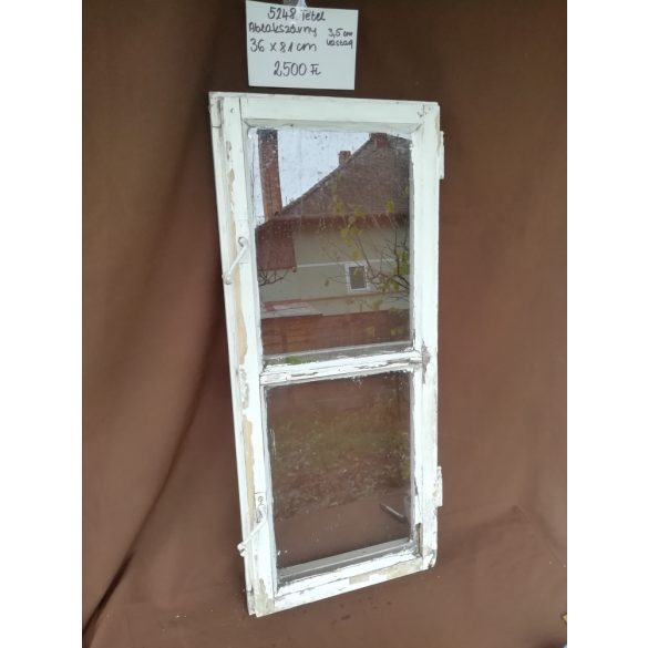 Osztott, 2 szemes, régi, fa ablakszárny