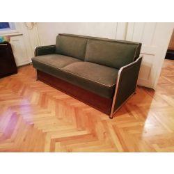 Bauhaus, retro, art deco nappali ülőgarnitúra, 2 db szék, 2 db fotel, 1 db ágyazható kanapé