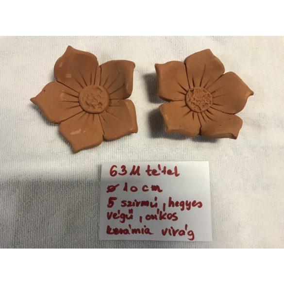 5 hegyes szirmú kerámia virág