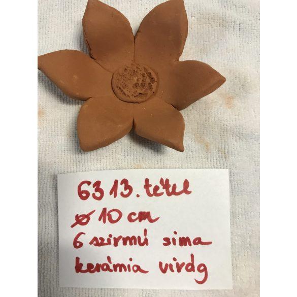 6 szirmú sima kerámia virág