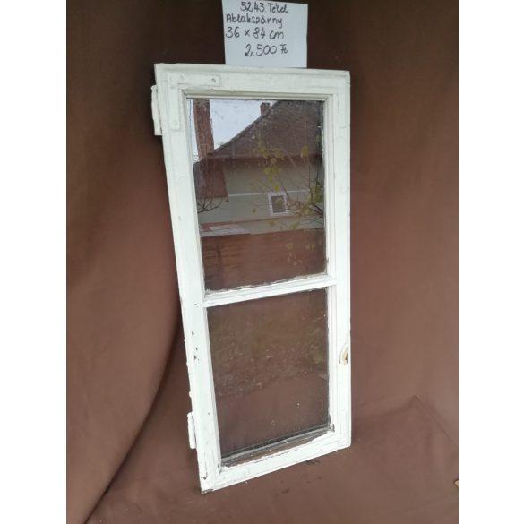 Osztott, 2 szemes, régi, fa ablak, üveggel