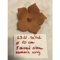 5 szirmú sima kerámia virág