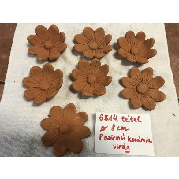 8 szirmú kerámia virág