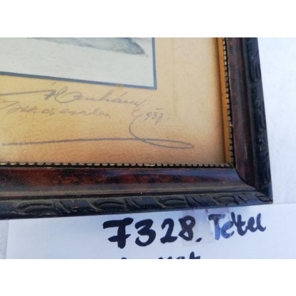 Képkeret, régi tablóképpel